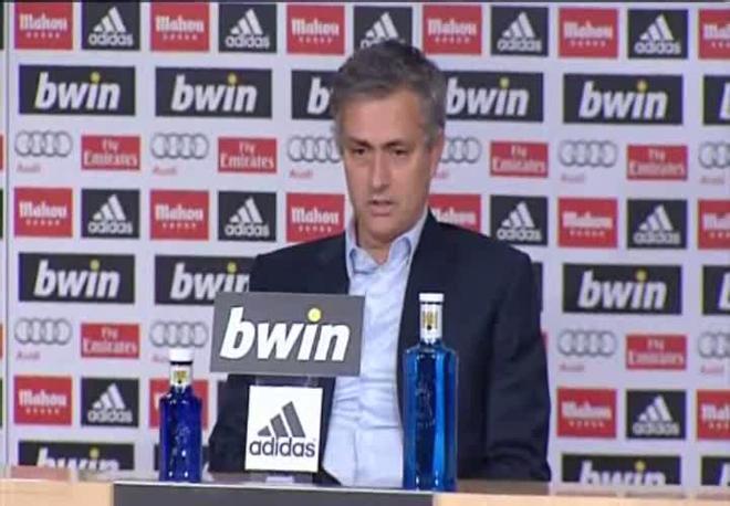 Mourinho no pudo evitar mostrar su decepción