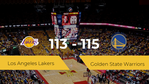 Golden State Warriors logra la victoria frente a Los Angeles Lakers por 113-115