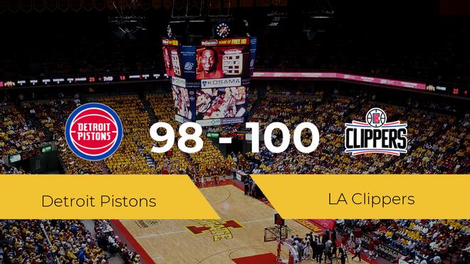 Triunfo de LA Clippers ante Detroit Pistons por 98-100