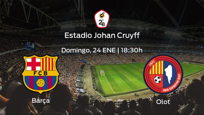 Previa del partido: el Barcelona B recibe al Olot en la decimotercera jornada