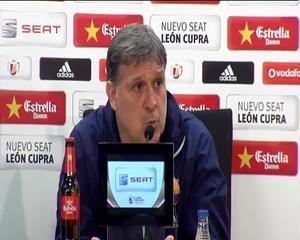 Martino afirma que una victoria en la Copa no solucionaría ¿los sentimientos que tenemos con las otras competiciones¿