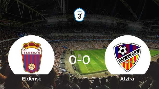 El Eldense y el Alzira empatan sin goles en el Municipal Nuevo Pepico Amat (0-0)