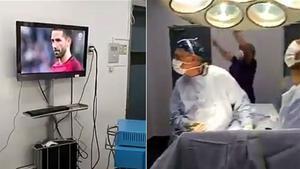 Dos cirujanos siguieron el Chile - Portugal mientras operaban