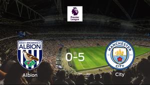 El Manchester City golea en el estadio del West Bromwich Albion (0-5)