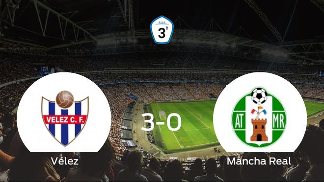 Tres puntos para el casillero del Vélez tras pasar por encima del Mancha Real (3-0)
