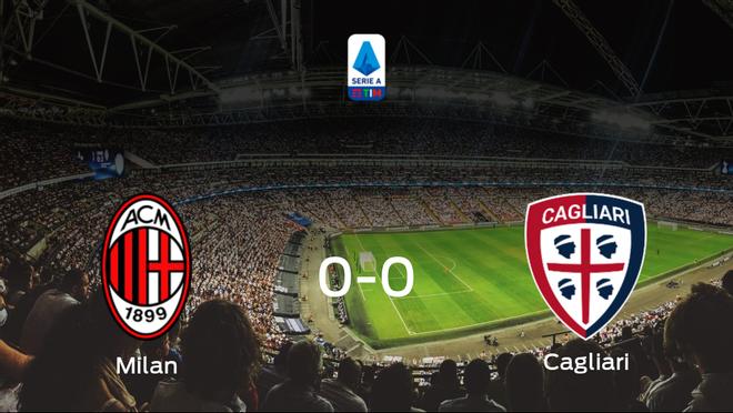 El AC Milan y el Cagliari concluyen su enfrentamiento en el Giuseppe Meazza sin goles (0-0)
