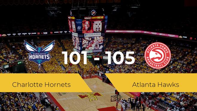 Atlanta Hawks se queda con la victoria frente a Charlotte Hornets por 101-105
