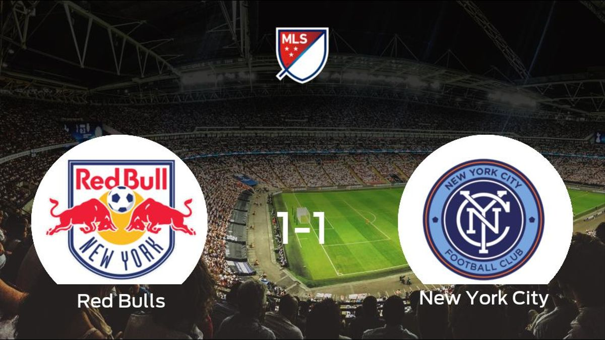 El New York Red Bulls y el New York City terminan su encuentro liguero con un empate (1-1)