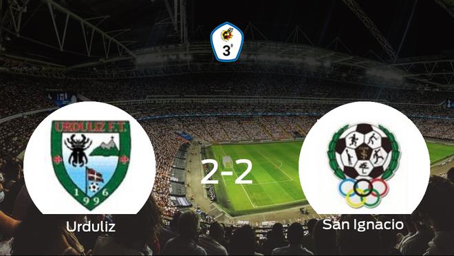 El San Ignacio logra un empate a dos frente al Urduliz FT