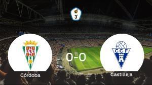 El Córdoba B y el Castilleja CF concluyen su enfrentamiento en el Municipal Nuevo Arcángel sin goles (0-0)