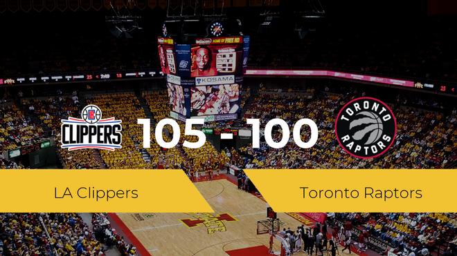 LA Clippers consigue la victoria frente a Toronto Raptors por 105-100
