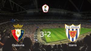 Osasuna Promesas vence en casa al Izarra por 3-2