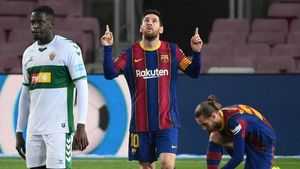 Leo Messi ante el Elche