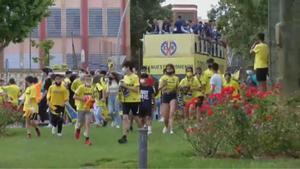 El Villarreal celebra la Liga Europa con rúa por las calles de la ciudad