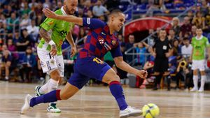 Ferrao, en acción en un partido del Barça