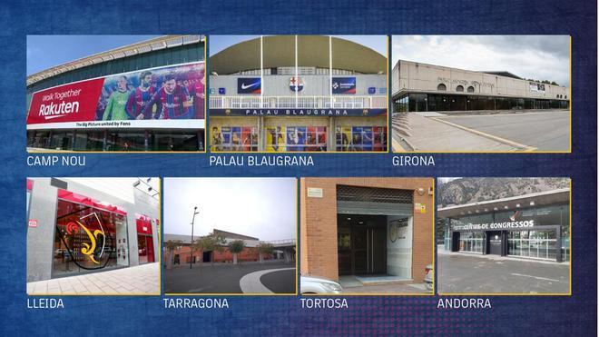 Las seis sedes de las elecciones del Barça