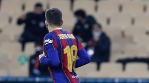 Jordi Alba, durante la final