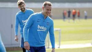 El Barça vuelve a los entrenamientos como finalista de la Copa