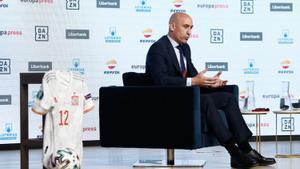 Rubiales habló de la Superliga en el marco del Desayuno Deportivo de Europa Press