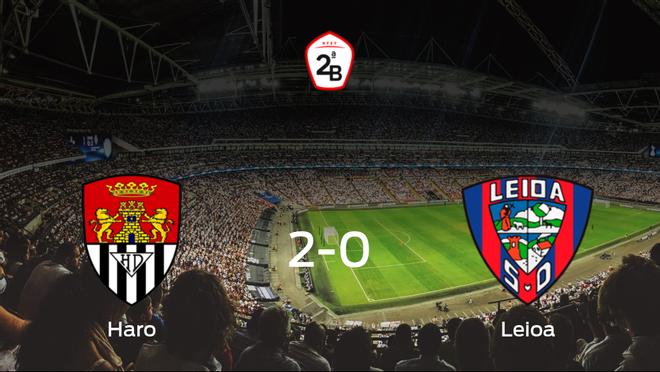 El Haro Deportivo se queda con la victoria frente al Leioa (2-0)