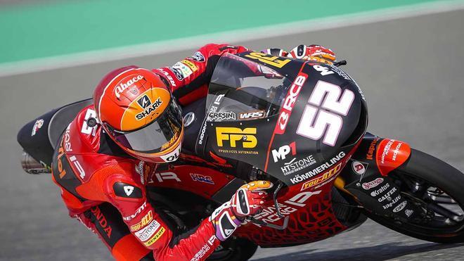 Jeremy Alcoba en el circuito de Losail durante el GP de Doha.