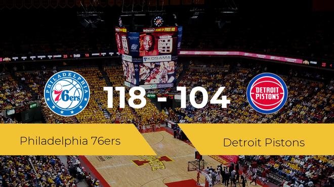 Philadelphia 76ers se queda con la victoria frente a Detroit Pistons por 118-104
