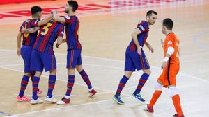 El Barça derrotó el domingo al Palma Futsal en el Palau