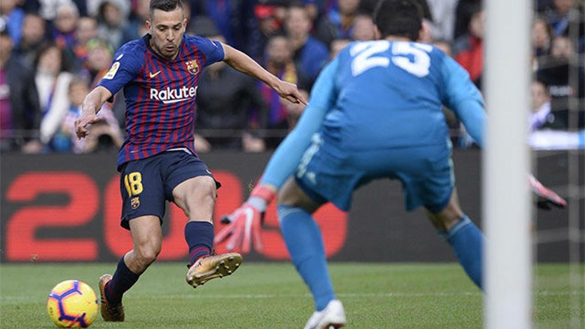 Nadie hace los pases de la muerte de Jordi Alba... y Coutinho no falló