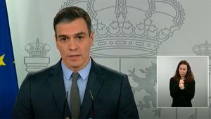 Pedro Sánchez anuncia la paralización de actividades no esenciales desde el lunes