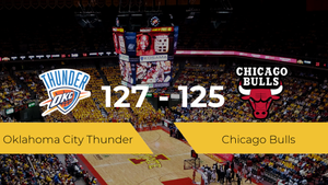 Oklahoma City Thunder gana a Chicago Bulls por 127-125