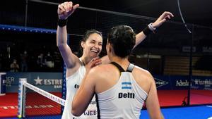 Delfina Brea y Tamara Icardo celebran su victoria en la final