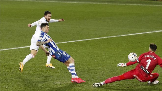 Hazard vio puerta después de tres meses en Liga