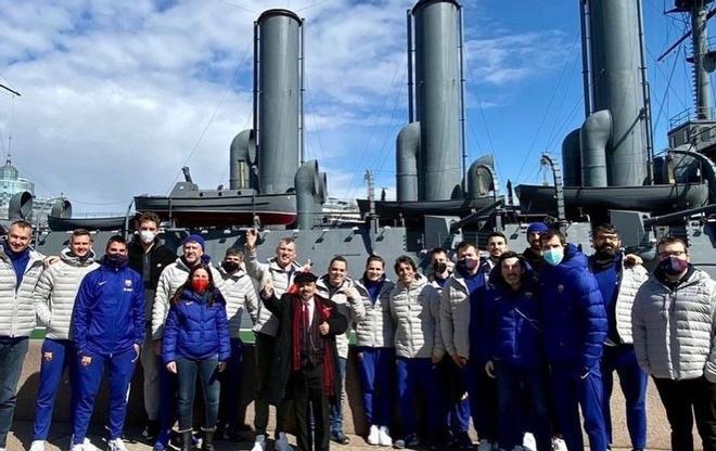 La expedición del Barça visitó San Petersburgo en el día previo al cuarto partido