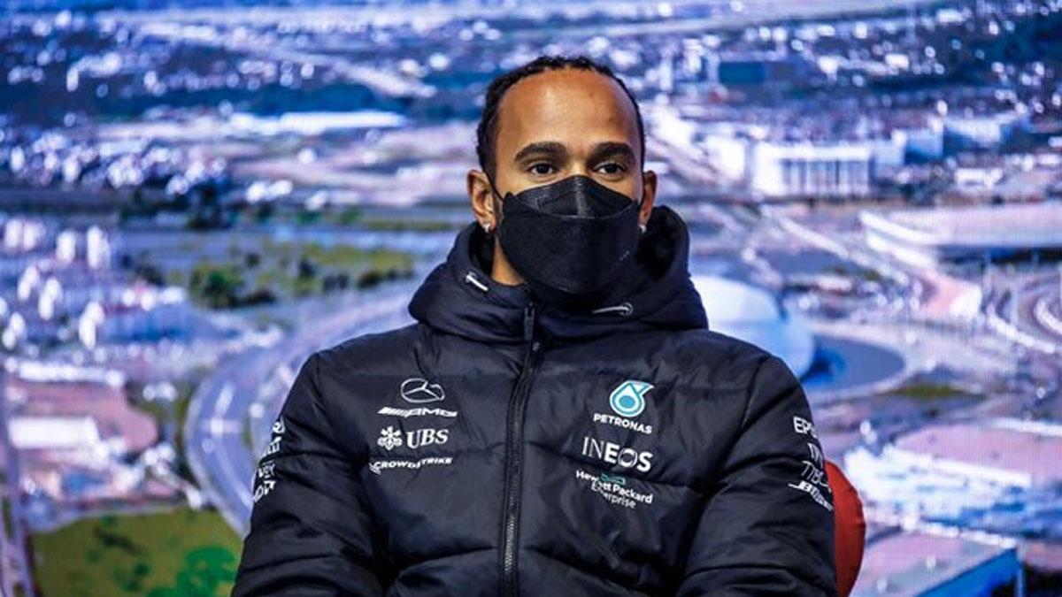 Hamilton, en rueda de prensa en Sochi