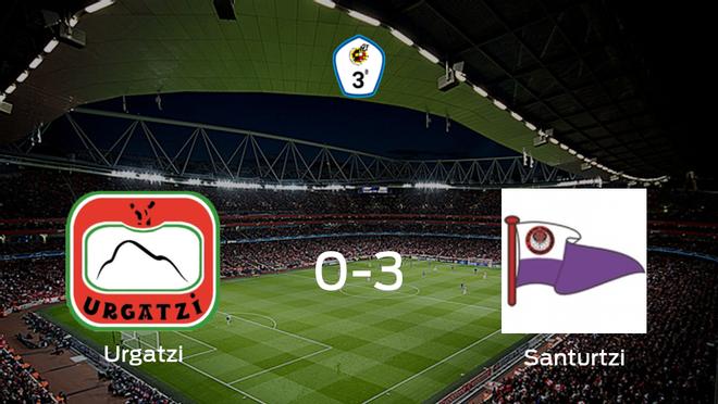 El Santurtzi se queda con los tres puntos frente al Urgatzi KK (0-3)