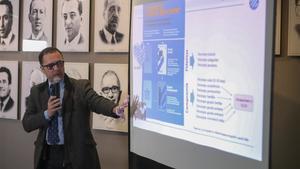 Agustí Filomeno, director de marketing, fue el encargado de presentar la campaña de socios