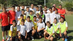Busquets visitó el Campus Girona Sport Camp de Arbúcies