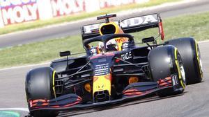 Max Verstappen, el más rápido en los entrenamientos libres 3 del GP de Emilia Romagna.
