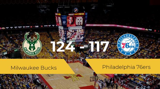 Milwaukee Bucks consigue la victoria frente a Philadelphia 76ers por 124-117