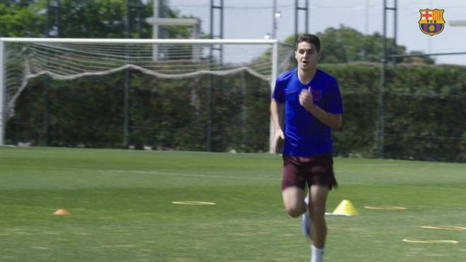 El Barça B entrena en la Ciutat Esportiva