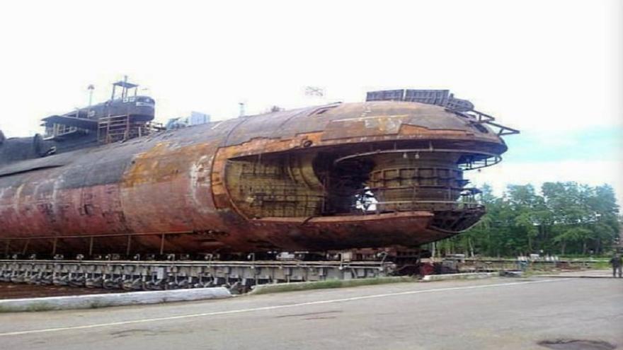 El terrorífico cementerio de submarinos nucleares en Rusia