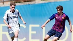 Encuentro entre el juvenil blaugrana y la Penya Arrabal en la temporada 2018/19