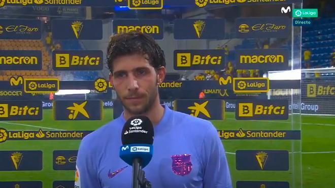 Sergi Roberto: Hay que ganar la Liga. No me vale eso de quedar entre los cuatro primeros