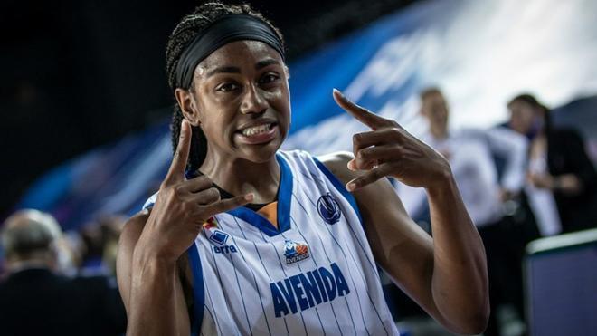 Hayes, una de las jugadoras destacadas del encuentro