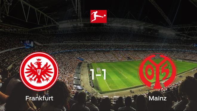 El Eintracht Frankfurty el Mainz 05se reparten los puntos y empatan 1-1