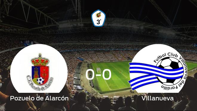 El Pozuelo de Alarcón y el Villanueva del Pardillo empatan sin goles en el Valle de las Cañas (0-0)