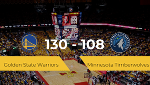 Golden State Warriors se impone por 130-108 frente a Minnesota Timberwolves