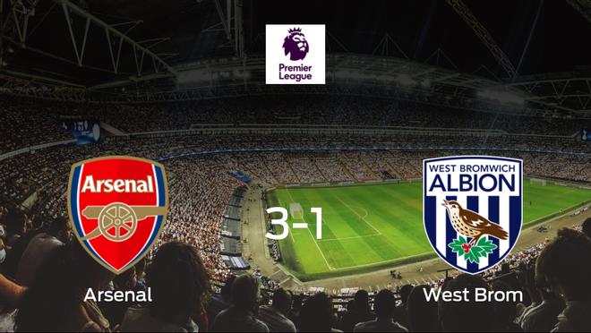 El Arsenal gana en casa al West Bromwich Albion por 3-1