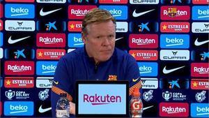 Koeman: No se puede fallar dos penaltis siendo del Barcelona. No es serio