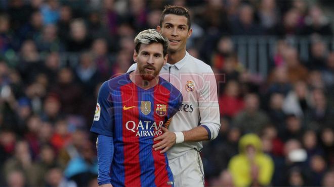 Leo Messi y Cristiano Ronaldo firmaron una breve tregua en pleno Barça - Madrid
